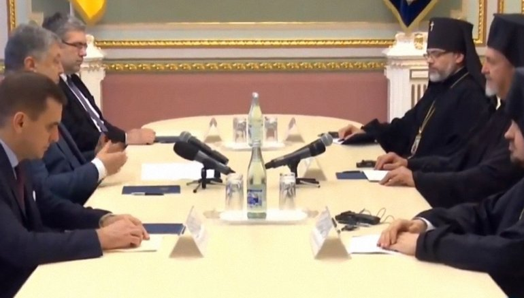 Порошенко встретился с делегацией Вселенского Патриархата в Мариинском дворце - фото 1