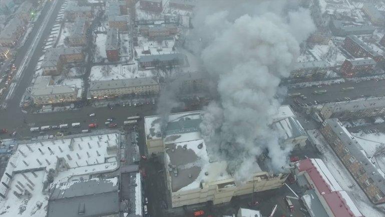 Пожар в торгово-развлекательном комплексе «Зимняя вишня» - фото 1