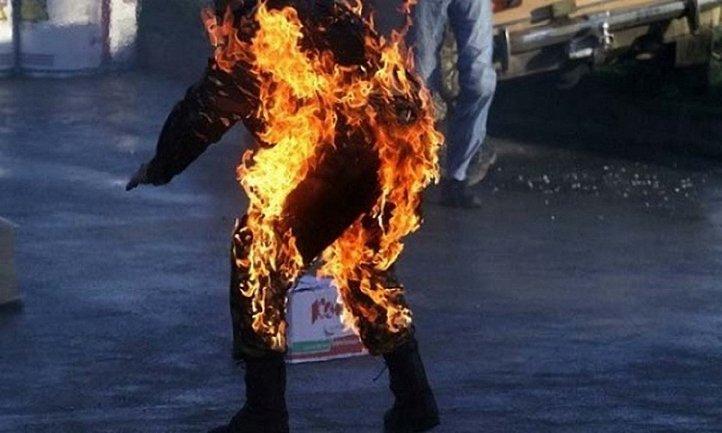 На Днепропетровщине подожгли женщину с сыном - фото 1