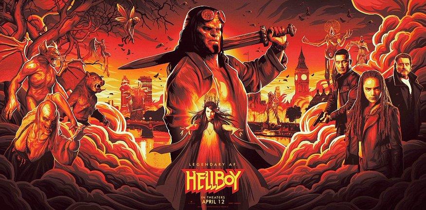 """Постер к фильму """"Хеллбой: Возрождение кровавой королевы"""" - фото 1"""