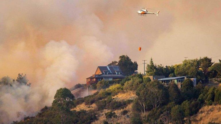 В Новой Зеландии в результате лесного пожара эвакуировали тысячи людей - фото 1