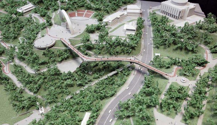 Мост Кличко достраивают за счет зоопарка - фото 1