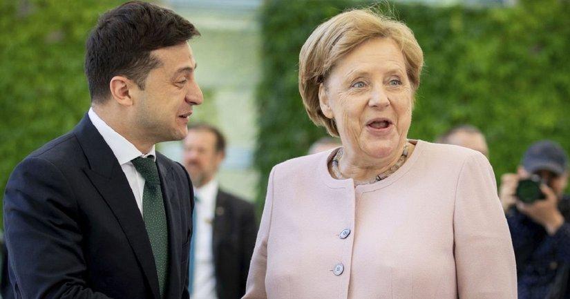 Зеленский оконфузился перед Меркель – ВИДЕО  - фото 1