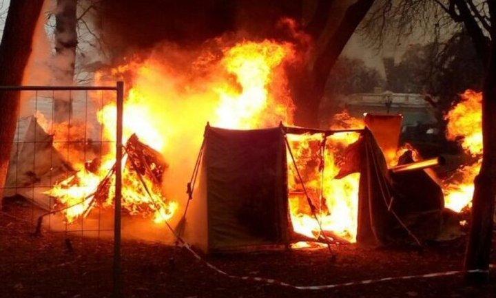 На полигоне ВСУ сгорели палатки, есть пострадавшие  - фото 1