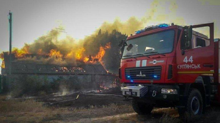 На Харьковщине целое село сгорело дотла - фото 1