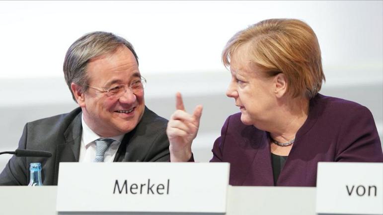 Армін Лашет та Ангела Меркель - фото 1