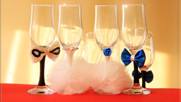 Свадебные бокалы - несколько слов о важности правильного выбора - фото 1