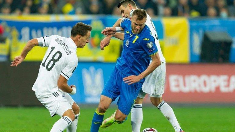 Сборная Украины упустила победу в игре отбора на ЧМ-2022 - фото 1
